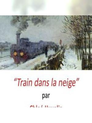Train dans la neige par Chloé Huvelin